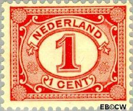 Nederland NL 51  1899 Cijfer type 'Vürtheim' 1 cent  Postfris