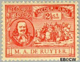 Nederland NL 89  1907 Ruyter, M.A. De 2½ cent  Postfris