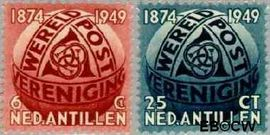 Nederlandse Antillen NA 209#210  1949 Wereldpostvereniging 8 cent  Postfris