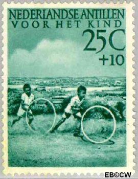 Nederlandse Antillen NA 238  1951 Kinderspelen  22½+7½ cent  Postfris