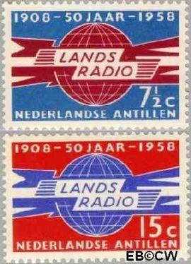 Nederlandse Antillen NA 291#292  1958 Landsradio 20 cent  Postfris