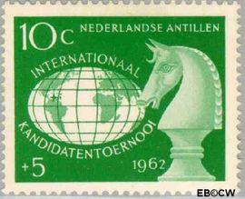 Nederlandse Antillen NA 330  1962 Kandidatentoernooi schaken  cent  Postfris