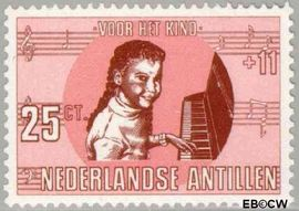 Nederlandse Antillen NA 419  1969 Kind en muziek 30 cent  Postfris