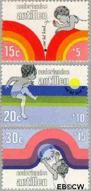 Nederlandse Antillen NA 457#459  1972 Elementen 15+5 cent  Postfris