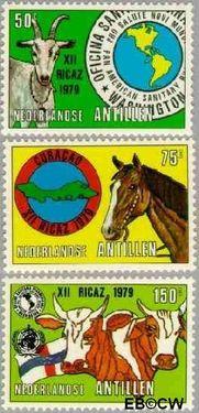 Nederlandse Antillen NA 618#620  1979 Vergadering P.A.H.O. 30+15 cent  Postfris
