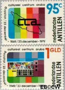 Nederlandse Antillen NA 643#644  1979 Stichting Cultureel Centrum 45+20 cent  Postfris