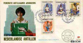 Nederlandse Antillen NA E44  1966 Werken 25 cent  FDC zonder adres