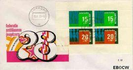 Nederlandse Antillen NA E82  1973 Hulp en zorg  cent  FDC zonder adres