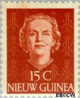 Nieuw-Guinea NG 10  1950 Type 'En Face' 15 cent  Gestempeld