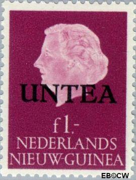 West-Nieuw-Guinea NG WNG9  1962 UNTEA opdruk 100 cent  Gestempeld