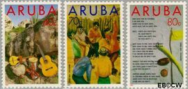 Aruba AR 122#124  1993 Folklore  cent  Postfris