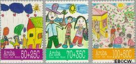 Aruba AR 168#170  1995 Kindertekeningen  cent  Postfris