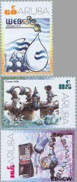 Aruba AR 283#285  2002 Water- en energiebedrijf  cent  Postfris