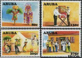 Aruba AR 392#395  2008 Cultureel jaar  cent  Postfris