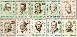 Berlin ber 163#172  1957 Beroemde mannen  Postfris