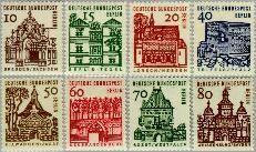 Berlin ber 242#249  1964 Duitse bouwwerken- kleinformaat  Postfris