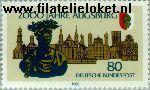 Bundesrepublik BRD 1234#  1985 Augsburg  Postfris