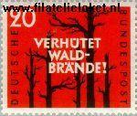 Bundesrepublik BRD 283#  1958 Voorkoming bosbranden  Postfris