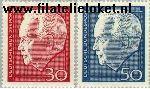 Bundesrepublik BRD 542#543  1967 Lübke, Heinrich  Postfris