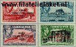 Gibraltar gib 129#132  1950 Nieuwe grondwet  Postfris