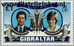 Gibraltar gib 422#  1981 Prins Charles en Diana- Huwelijk  Postfris