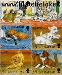 Gibraltar gib 749#754  1996 Honden  Postfris