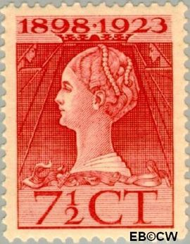 Nederland NL 123  1923 Koningin Wilhelmina- Regeringsjubileum 7½ cent  Postfris