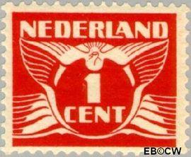 Nederland NL 144  1924 Vliegende Duif 1 cent  Postfris