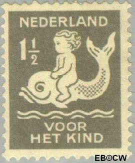 Nederland NL 225  1929 Kind op dolfijn 1½+1½ cent  Postfris