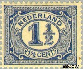 Nederland NL 52  1908 Cijfer type 'Vürtheim' 1½ cent  Postfris