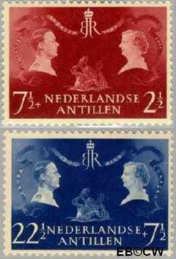 Nederlandse Antillen NA 253#254  1955 Koninklijk bezoek  cent  Postfris