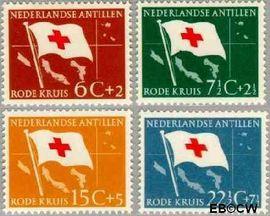 Nederlandse Antillen NA 293#296  1958 Rode Kruis en Ned. Antillen  cent  Postfris