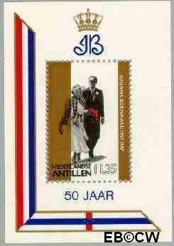 Nederlandse Antillen NA 860  1987 Huwelijksjubileum Juliana en Bernhard  cent  Postfris