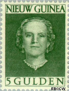 Nieuw-Guinea NG 21  1953 Type 'En Face' 500 cent  Gestempeld