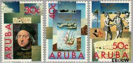 Aruba AR 110#112  1992 Ontdekking Amerika  cent  Postfris