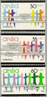 Aruba AR 13#15  1986 Solidariteit  cent  Postfris