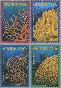 Aruba AR 348#351  2005 Koraal  cent  Postfris