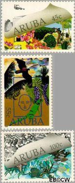Aruba AR 70#72  1990 Natuur en milieu  cent  Postfris