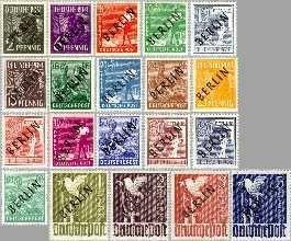 Berlin ber 1#20  1948 Zwarte opdruk  Postfris