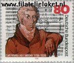 Bundesrepublik BRD 1283#  1986 Weber, Carl Maria von  Postfris