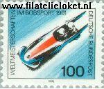Bundesrepublik BRD 1496#  1991 WK Bobsleeën  Postfris