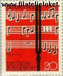 Bundesrepublik BRD 380#  1962 lied en koor  Postfris