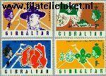Gibraltar gib 211#214  1968 Scouting  Postfris