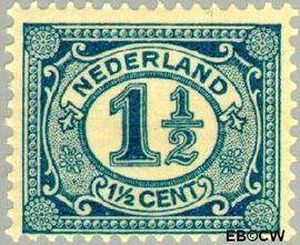 Nederland NL 53  1913 Cijfer type 'Vürtheim' 1½ cent  Postfris