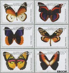 Nederlandse Antillen NA 1646#1651  2006 Vlinders 149+61 cent  Postfris