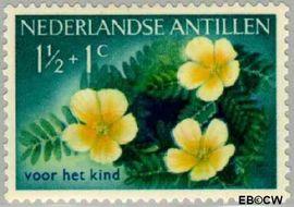 Nederlandse Antillen NA 248  1955 Bloemen  cent  Ongebruikt