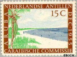 Nederlandse Antillen NA 255  1955 Caraïbische Commissie 10+2 cent  Postfris