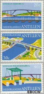 Nederlandse Antillen NA 500#502  1975 Bruggen 40 cent  Postfris
