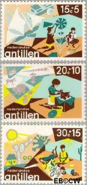 Nederlandse Antillen NA 515#517  1975 Creativiteit 55 cent  Postfris