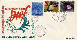 Nederlandse Antillen NA E16  1960 Kankerbestrijding 25 cent  FDC zonder adres